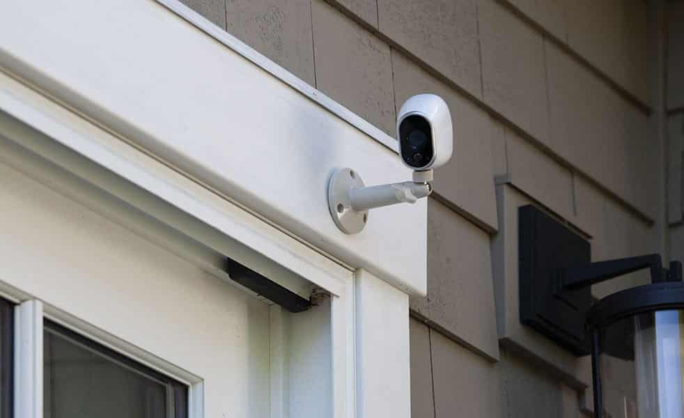 image of a CCTV camera we installed for a residential customer