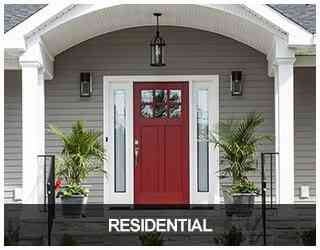 image of a home with a lovely red front door
