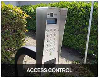image of a keypad access control panel for an outdoor gate gate